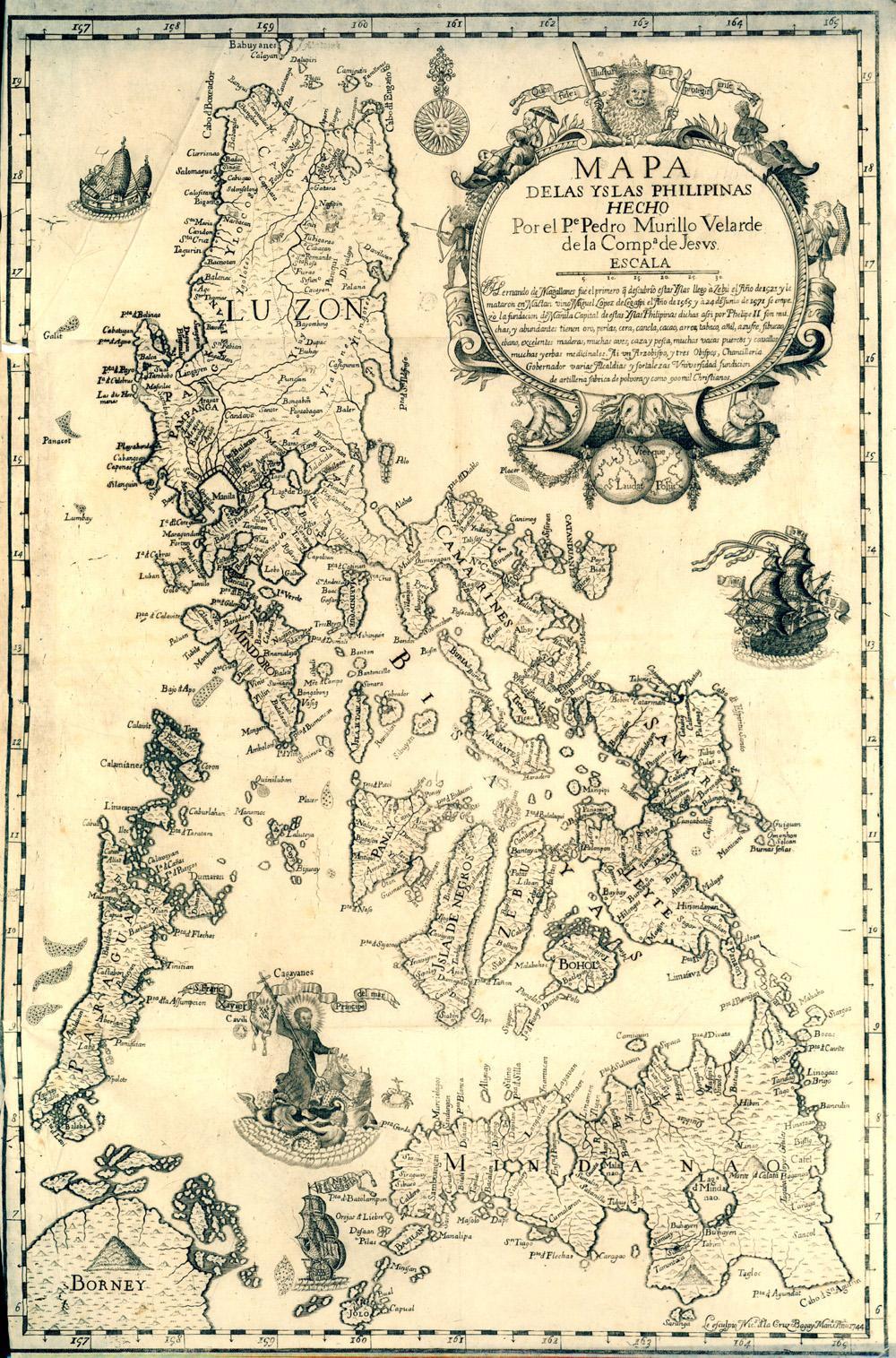 Mapa de les Filipines del pare jesuita Pedro Murillo Velarde