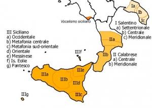 OcellsMalta. Àmbit geogràfic de la llengua siciliana i distribució dels seus dialectes. Foto: Wikipe