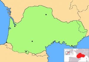 OcellsMalta. Àmbit de distribució històrica de la llengua occitana. Foto: Wikipedia